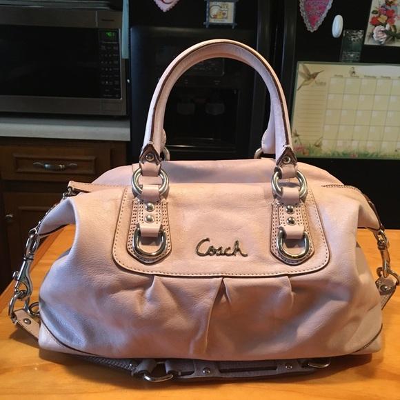 6eac7be562 Coach Handbags - Coach Ashley Lavender Leather Satchel